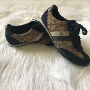 Coach women's sneakers brown/navy size 6.